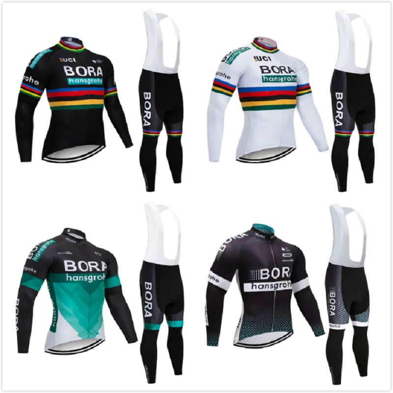 Ropa Ciclismo Invierno Hombre Cycling Jersey 2018 Pro Team Men's Winter Super Warm Thermal Fleece Bike Clothing Bib Set