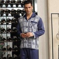 Luxury Mens Silk Pajamas Two Pieces Satin Pajamas For Men Classic Chinese Silk Pajamas Men Sleepwear