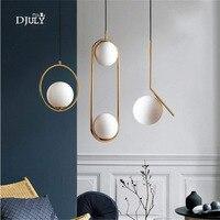 nordic modern suspension ball glass pendant lights loft decor hanging lamp for living room bedroom kitchen led light fixtures