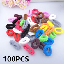 100Pcs Diameter 2.5cm Hair Holders Elastics Headdress Hair Rubber Band Hair Rings Tie Gum Maker Hair Accessories(China)