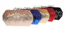 Frauen Zarte Gold Kette Clutch Bag Braut Hochzeit Abendtaschen Frauen Kristall Luxus Handtasche SMYCWL-F0020
