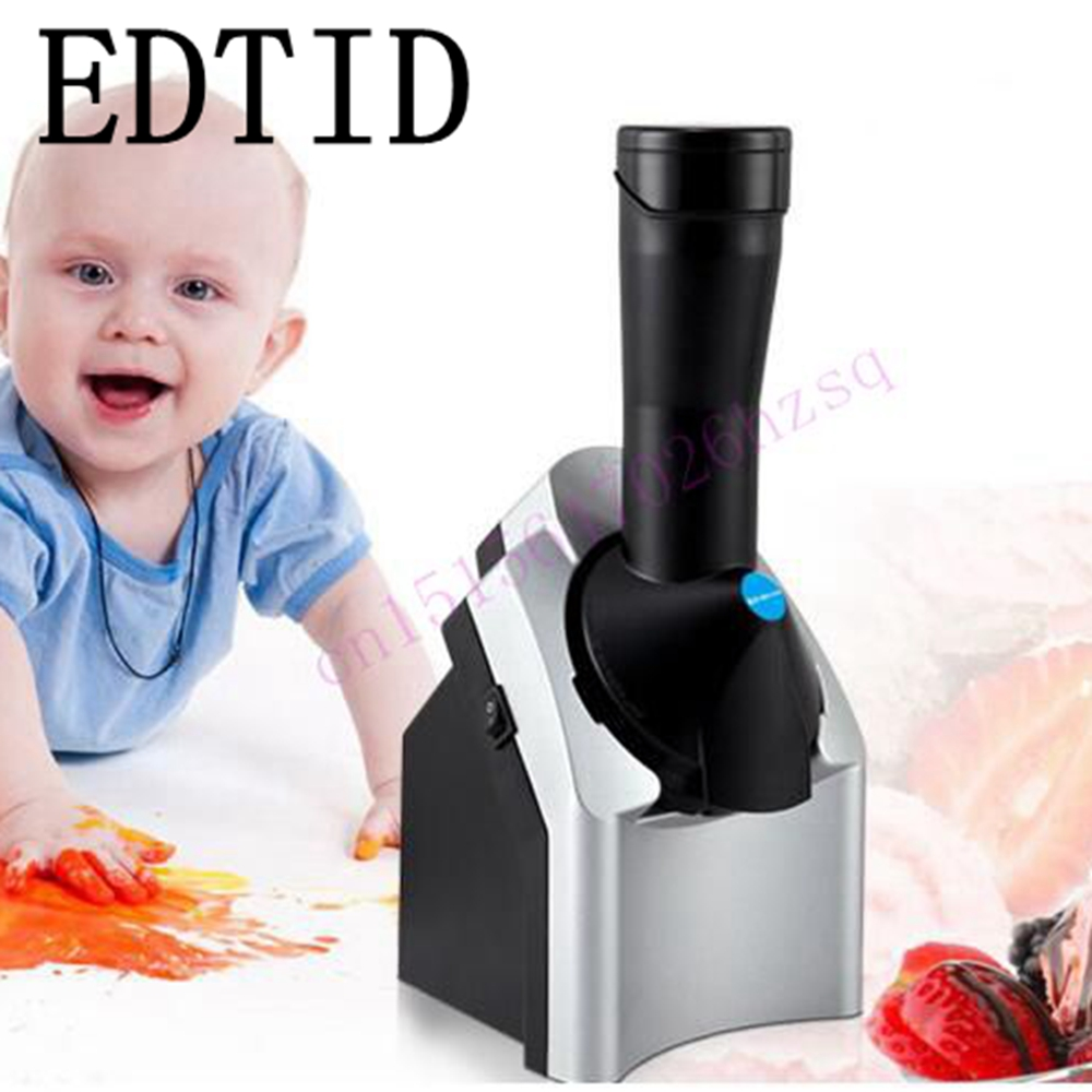 EDTID Best sellers Fruit ice cream machine Mini DIY Fruit ice cream maker  High Quality Household For Gift Children 200w edtid ice cream machine household automatic children fruit ice cream ice cream machine barrel cone machine
