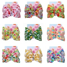 8  Bows For Girls Hair Accessories  Large Fruit Hair Bows For Girls With Clips Bow Knot Handmade Hair Accessories