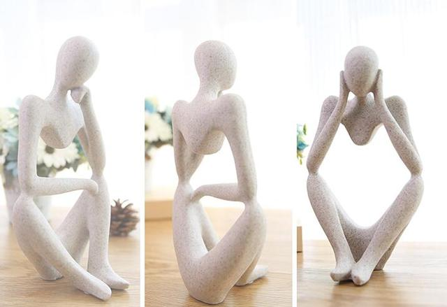 Abstract Character Decoration North European Creative Home Ornament Drawing Room Office Sandstone Decor gift statue Sculpture