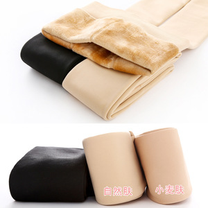 Image 3 - Plus velvet Extra thick Warm Tights Pantyhose Super soft Plus velvet Thicken Winter artifact 2018 NEW 220G 320G Cold 2019