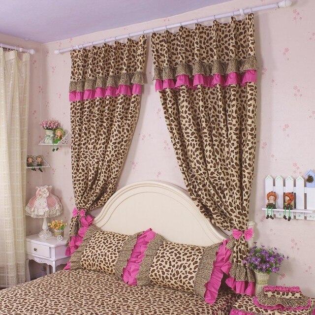 2 unids/lote cortinas del dormitorio sexy leopard impreso blackout ...