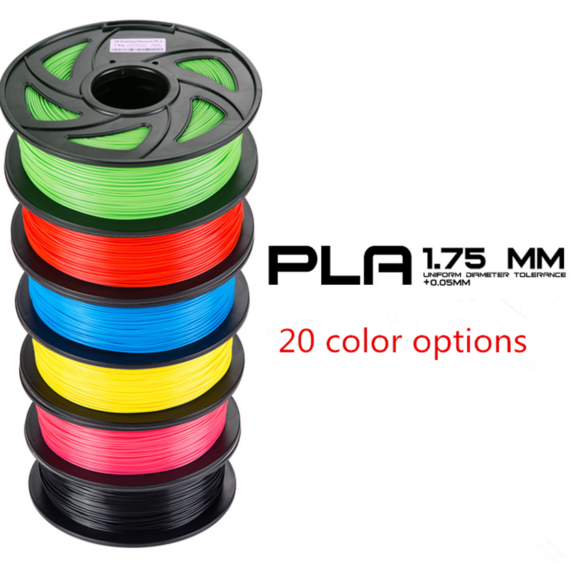 New PLA 3D printer filament 1.75MM 1KG 3d printer filament pla filamento 1.75 3d filament 3d printer extruder pla filamen sunlu 3d pla printer filament 1 75mm polycarbonate filament 2 2lbs 1kg spool white color pla filament