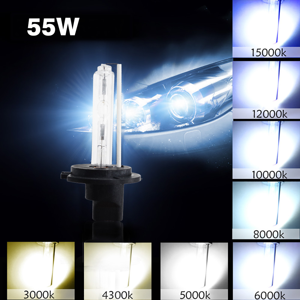 DC 12V 55W HID Kit Xenon H7 H1 H3 H11 HB3 HB4 4300K 5000K 6000K 8000K Car Light Headlight Bulb Fast Bright 55W HID Ballast Kit (4)