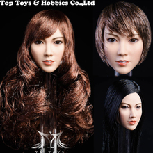 In STOCK 1/6 Scale YMT021 Qian plant Hair Asian beauty head carving For 12 Hot Toys Action Figure Body 1 6 scale asian beauty girl lingling head w black long straight hair for 12 action figure accessory collection doll toys gift