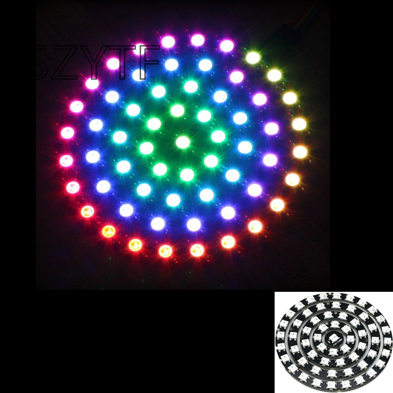 61 Bits 61X WS2812 5050 RGB LED Ring Lamp Light with Integrated Drivers FZ1583(China)