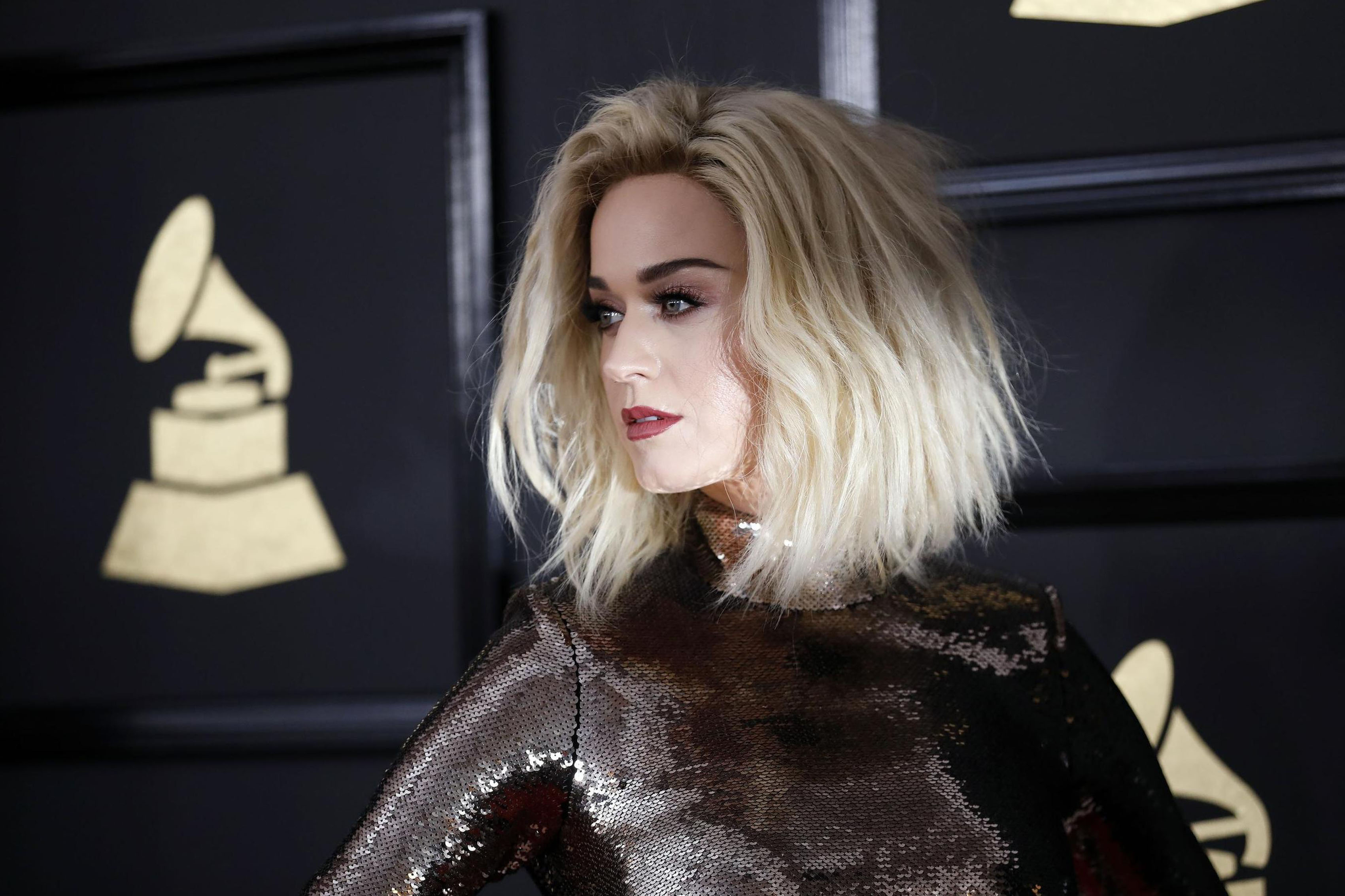 Celebrity singer face Katy Perry blonde MM727 Living room home art ...