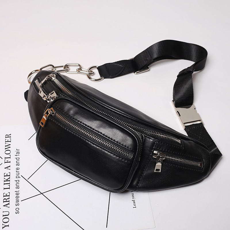 Lambskin Women Waist Bag Casual genuine Leather Shoulder Bag Travel Chest Bags fashion waist Pack belt bags climb pockets цена