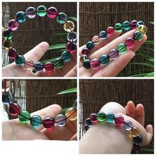 Ms natural quartz crystal bracelet lap Female rainbow tourmaline