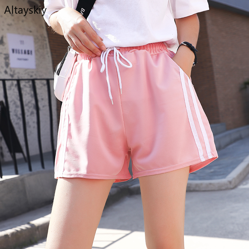 Shorts Women 2019 Summer All-match Trendy Simple Daily Preppy Style Womens Pockets Short Trousers Female Comfortable Leisure