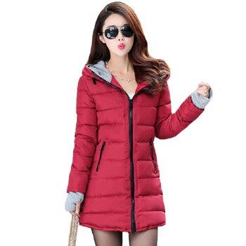 Mulheres jaqueta de inverno 2019 alta qualidade quente engrossar feminino jaqueta casaco longo com capuz outwear casaco feminino inverno