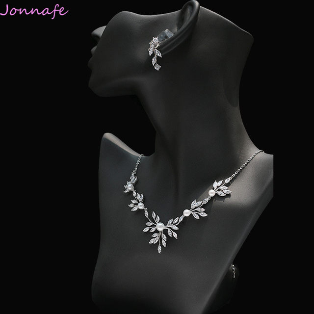 online shop jonnafe silver simple wedding necklace with earrings