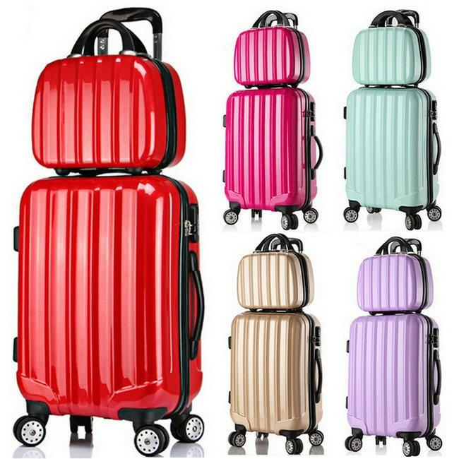 Girls Fashion Luggage Sets&Women Travel Suitcase Vintage Luggage ...