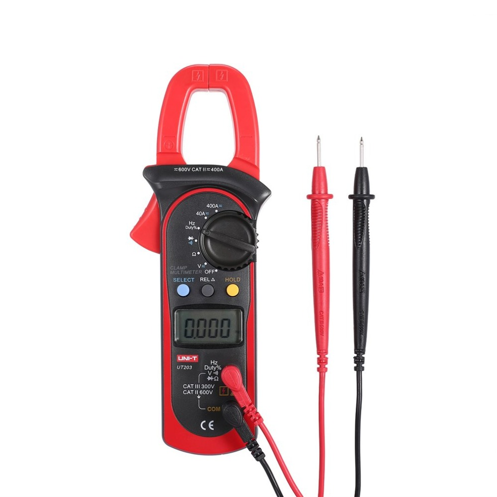 UNI-T UT203 4000 Counts Digital Handheld Clamp Multimeter with Auto Range DMM DC/AC Voltage 400A Current Ohm Tester Meter железная дорога rinzo электромеханическая c 00069 a36 26