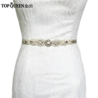 TOPQUEEN S43 women's handmade Rhinestone Wedding evening dress sash Belts Bridal bride Belt Sashes for the party Fast Delivery