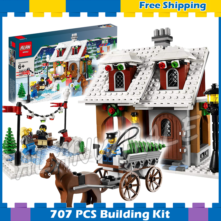 707pcs Creator Holiday Christmas Bakery Snow-covered Town Light-up Model Building Blocks Gifts sets Compatible With lego707pcs Creator Holiday Christmas Bakery Snow-covered Town Light-up Model Building Blocks Gifts sets Compatible With lego