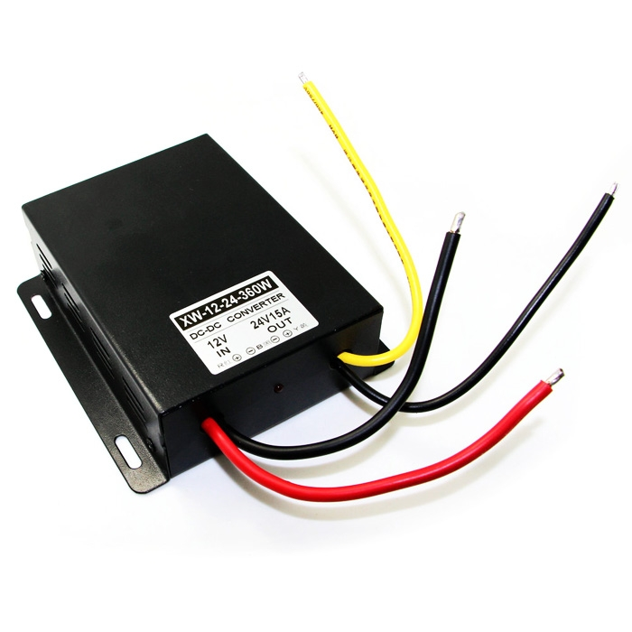 Converter <font><b>DC</b></font> 12V <font><b>Step</b></font> <font><b>Up</b></font> To <font><b>DC</b></font> 24V <font><b>15A</b></font> 360W Boost Power Regulator Module Waterproof Adapter image