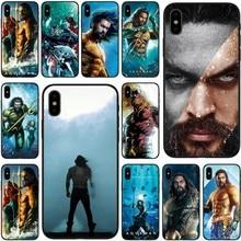 Película de DC Comics Aquaman cubierta de silicona suave negro caja del teléfono TPU para iPhone 5 5C 5S SE 6 6 s 6 más 7 6 s más 7plus 8 8plus X XS X XR XS.