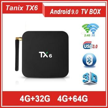 NOVA TANIX TX6 Android 9 0 os TV BOX AllWinner H6 4g RAM 64g ROM Quad Core  DDR3 2 4 g/G WI-FI H 265 5 BT5 0 4 K HD Inteligente Media Player