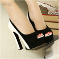 New Fashion Women Pumps Sexy Platform High Heels Shoes for Woman Black & White