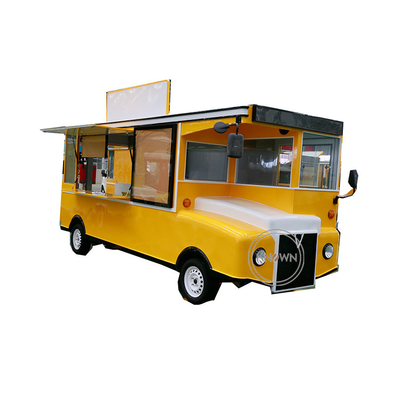 Customized 4.8m length electric food truck cart for fast food mobile food trailer for saleCustomized 4.8m length electric food truck cart for fast food mobile food trailer for sale