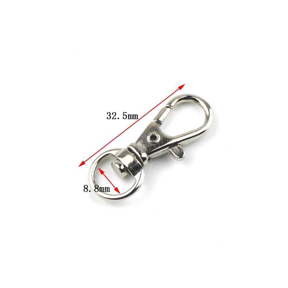 5 PCS Metal Lobster Fechos Swivel Gatilho Clipe Pressão Chaveiro Gancho Ao Ar Livre Anel Cordão Saco Do Ofício Peças Pick 6 tamanho 8.8 milímetros ~ 26mm