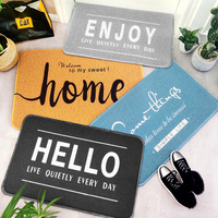 PVC Silk Loop Dust proof Rug Nordic letters Doormat Thickening Non slip Outdoor Door Mats Shoes Scraper for Bathroom Area Rugs