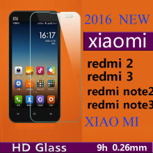 0.3mm 9H Premium Tempered Glass for Xiaomi Redmi 2 Redmi 3 4 Redmi Note 2 Redmi Note 3 4 4X 5A Multi Phone Screen Protector Film(China)