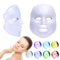 7 Color LED Light Therapy Mask Beauty Parlor Professional Facial Care Tools Skin Rejuvenation Anti Aging Photon LED MasK W3
