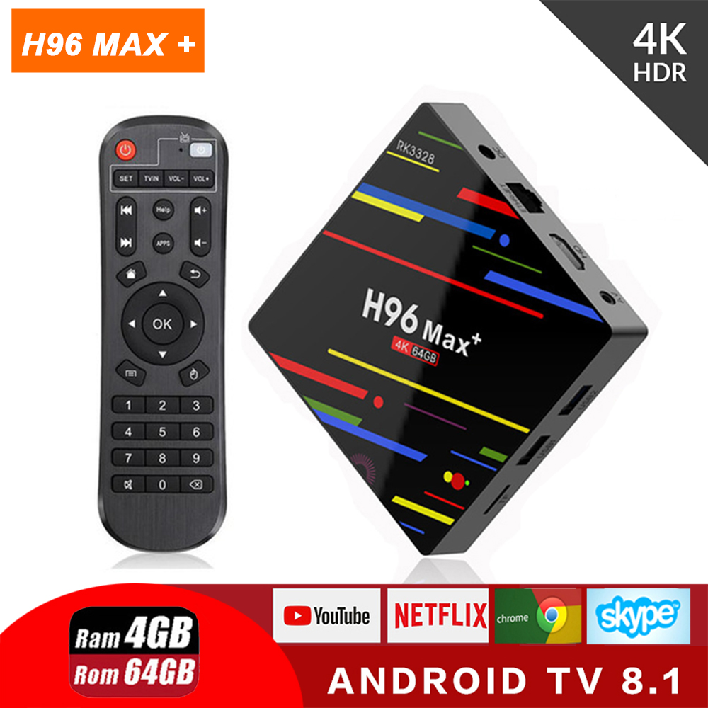 H96 MAX Plus RK3328 Android 8.1 TV Box 4GB Ram 64GB ROM Smart 4K set top box 2.4G/5G WIFI H96Max + BT Media playerH96 MAX Plus RK3328 Android 8.1 TV Box 4GB Ram 64GB ROM Smart 4K set top box 2.4G/5G WIFI H96Max + BT Media player