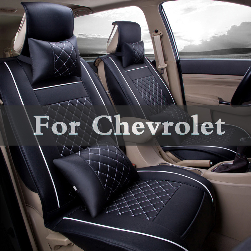 New Luxury Pu Leather Auto Car Seat Covers Cushion For Chevrolet Aveo Captiva Classic Cobalt Celta Blazer Caprice Camaro luxury car seat cover universal pu leather auto seat pad for chevrolet aveo blazer camaro caprice captiva celta classic cobalt