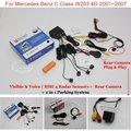 Автомобильная Стоянка Датчики + Камера Заднего вида = 2 в 1 Видео/BIBI Сигнализации Система Парковки Для Mercedes Benz C Class W203 4D 2001 ~ 2007