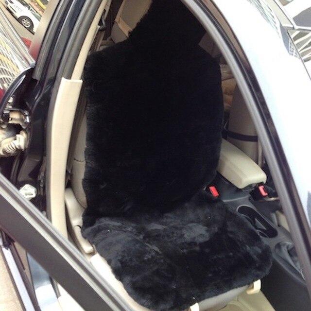 Free Shipping 1 Pair Patchwork Sheepskin Car Seat Cover Fur Cushion Winter Short