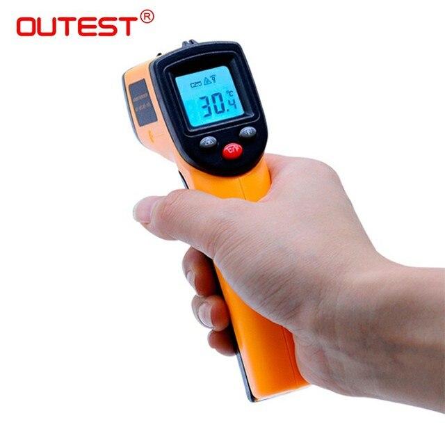 Цифровой термометр GM320 красной лазерной инфракрасный термометр Бесконтактный ИК пирометр ЖК-дисплей Температура метр дулом пистолета