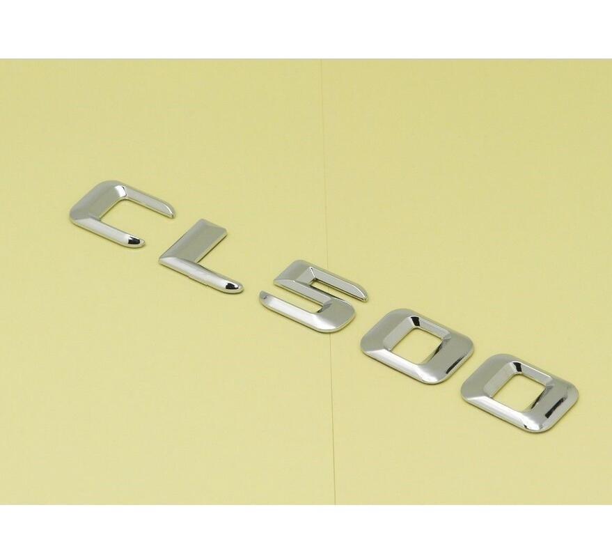 Chrome Trunk Letters Badge Emblem Badges Emblems Sticker for Mercedes Benz CL Class CL55 CL63 AMG CL500 CL400 CL600 CL550
