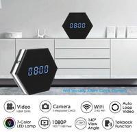 Smart Alarm Clock Mini Camera Wifi 1080P P2P WebCam IP Remote Monitor IR Night Vision Surveillance