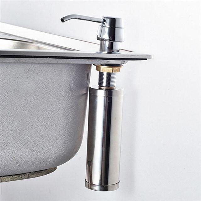 Lavabo del fregadero de cocina de acero inoxidable ba o - Dispensador de jabon cocina ...