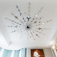 57pcs Full Of Star 3d Free Shipping Diy Home Decoration Tv Wall Stick Decoration Mirror Wall