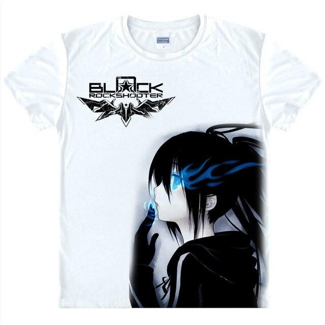 Black Rock Shooter t-shirt BLACK Gold Saw camisa casal personagens de Anime  Kawaii   d3f75cb7f0500