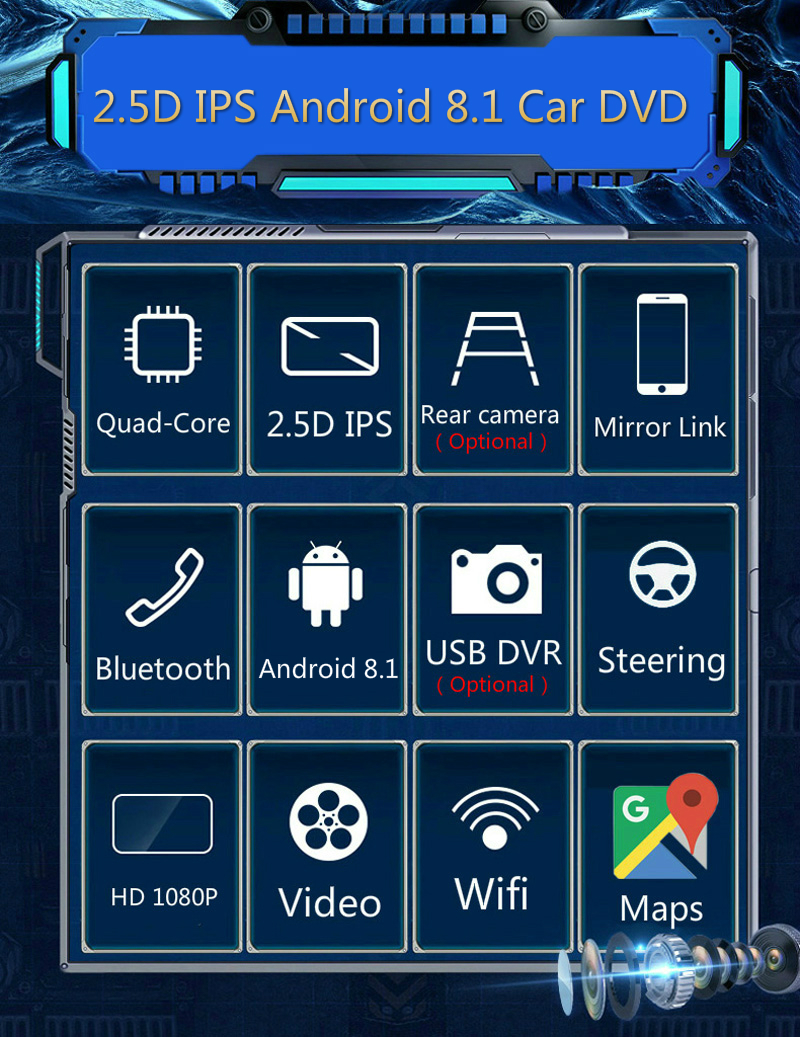 """Best 10.1"""" 2.5D IPS Android 8.1 Car DVD Multimedia Player GPS For Skoda Superb 2016 2017 2018 audio car radio stereo navigation 4"""