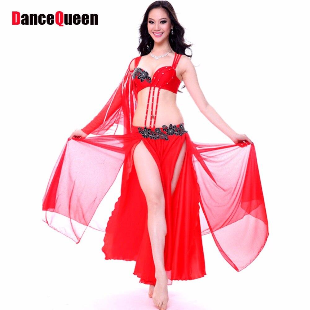 ツ)_/¯Mujeres Danza del vientre falda 34/36/38 2 unidades set Falda ...