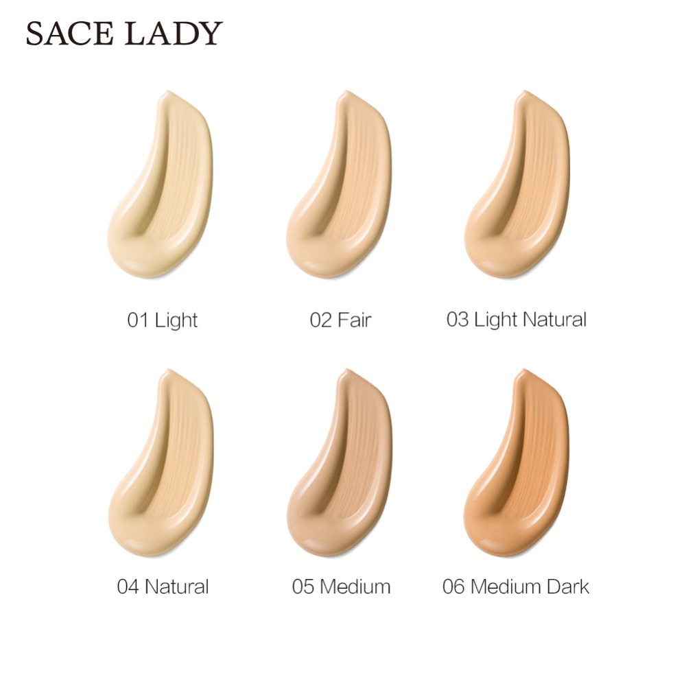 SACE LADY Face Foundation Cream Base Makeup Professional Matte Finish Make Up Liquid Concealer Waterproof Brand Natural Cosmetic 2