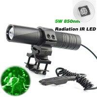 5W Torch 850nm Zoom Infrared Radiation IR LED Night Vision Flashlight Camping Light Hunting Lamp Flashlight