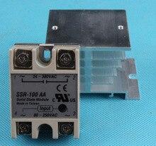 1 unids 100A SSR-100AA relé de estado sólido 80-250 V AC A 24-380 V AC 100AA SSR relé de estado sólido con disipadores de calor