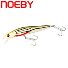 NOEBY Minnow Fishing Lure 80mm/5.5g 100m/11g Iscas Artificiais Para Pesca Leurre De Peche Floating Hard Baits Plastic Trout Lure smart minnow fishing lure 11 5cm 16g floating leurre souple iscas artificiais para pesca atacado fishing wobblers swimbait peche