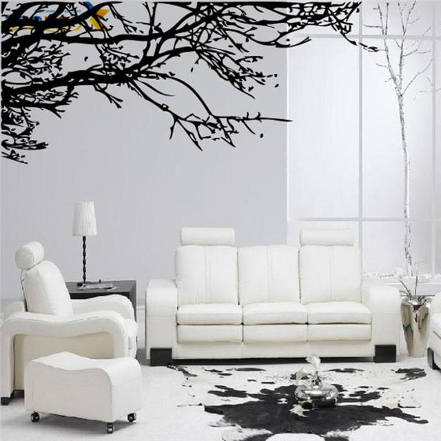 & 200cm*83cm big tree branches wall sticker for living room bedroom ...